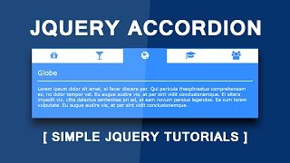 How to Build a jQuery Accordion - Simple jQuery Tutorials - Create An Accordion with jQuery