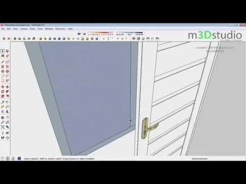 How to build terraced house #3 - make Doors and Windows - Sketchup Tutotrial