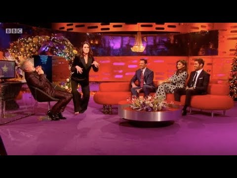 Suranne Jones does velociraptor impression. The Graham Norton Show - BBC1. 31 Dec 2017