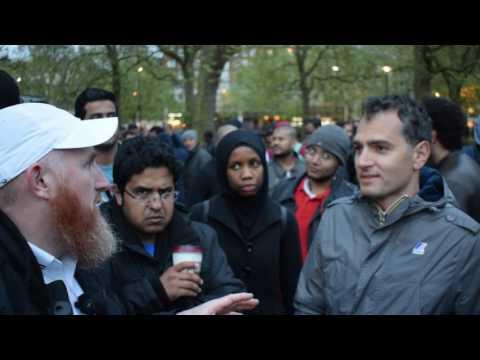 Whos this Geezer!? ! Hamza vs Atheist | Speakers Corner | Hyde Park