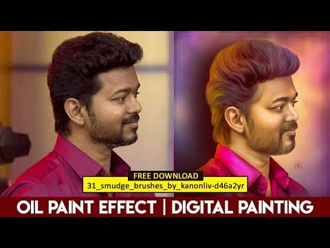 OIL PAINT EFFECT | DIGITAL PAINTING | SMUDGE PAINTING | PHOTOSHOP TUTORIAL