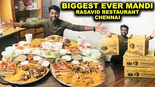 BIGGEST EVER !! Mutton Mandi & Chicken Kapsa - Rasavid Restaurant Chennai