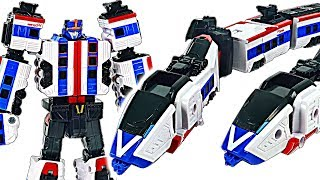 Tobot V Power Train appeared! 5 combine wiht Master V! #DuDuPopTOY