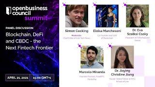 Blockchain, DeFi and CBDC - the Next Fintech Frontier