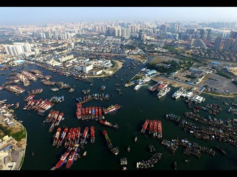 Beihai in China, port of international trade, large shipyard, business, shipping