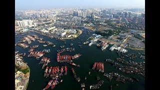 Beihai in China, port of international trade, large shipyard, business, shipping