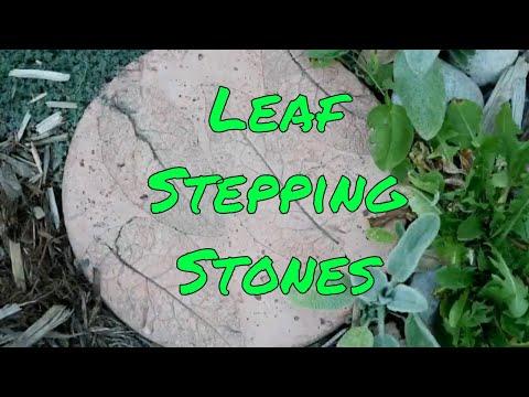 Garden Stepping Stones Using Leaves