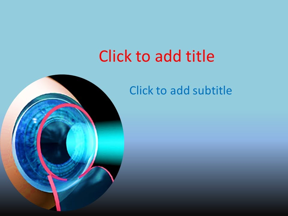 Free ophthalmology powerpoint template download youtube toneelgroepblik Images