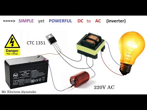 simple-inverter-12v-dc-to-220v-ac-  -converter-project-for-car-&-home