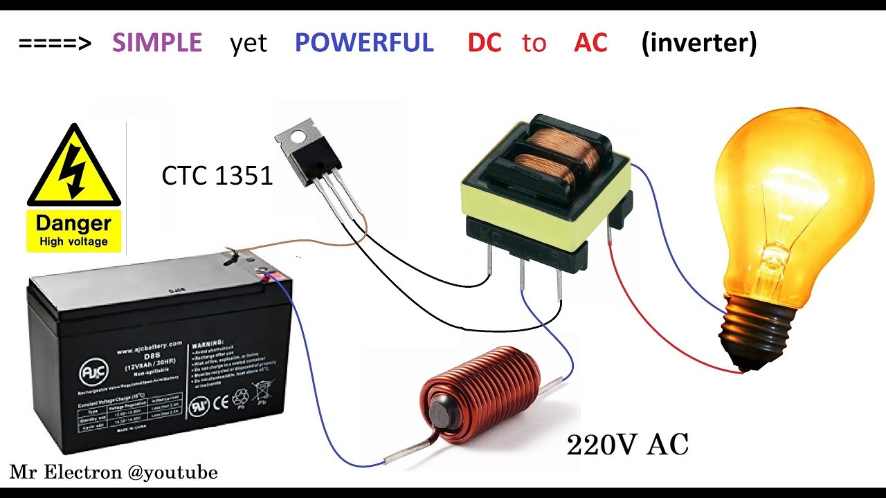Simple Inverter 12v DC to 220v AC || Converter project for Car & Home