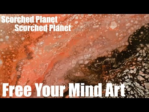 Fluid Art Acrylic Painting Old Paints (Scorched planet) Stuart Wimbles  Free Your Mind Art (2017)