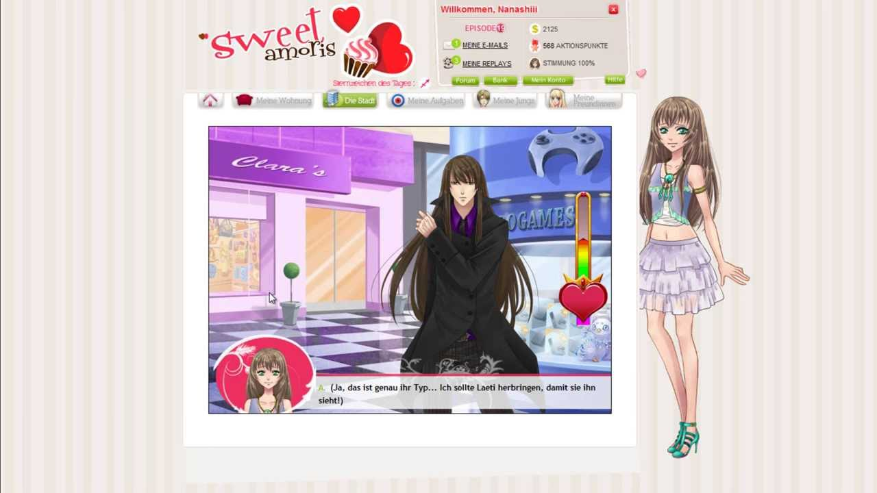 Virtuelle online-flirtspiel