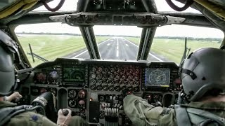 B-52 Flight Ops • Takeoff & Landing + Cockpit View