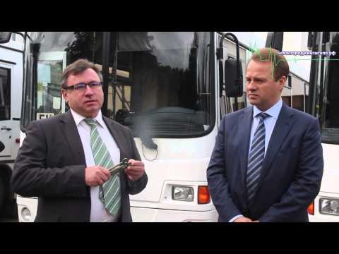 В Кингисеппе на линию выходят новые автобусы, оборудованные для перевозки инвалидов-колясочников