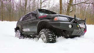 Фото с обложки Снега По Яйка. Mitsubishi Pajero Sport И Toyota 4runner Off-Road.