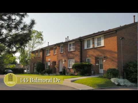 Brampton Townhomes for Rent Video - 145 Balmoral Dr