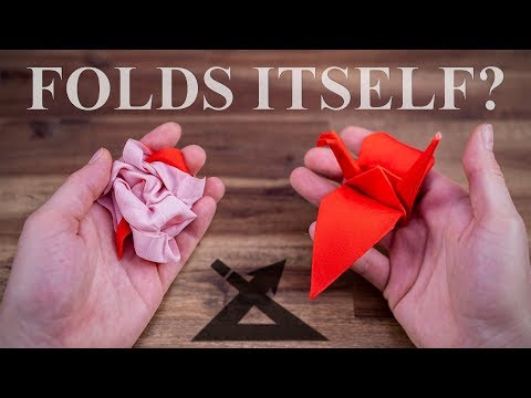 The Magic Origami Crane - Really folds ITSELF!?