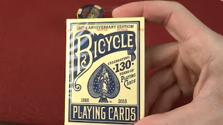 Happy Birthday Bicycle Playing Cards - 130 Years!