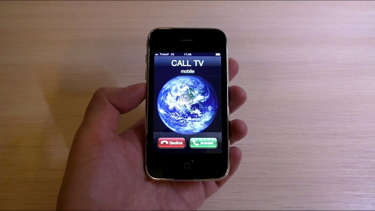 Apple iPhone 3G White Incoming Call