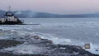 Остров Путятин сковали льды