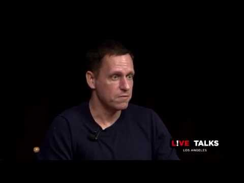 Peter Thiel in conversation with Peter Guber at Live Talks Los Angeles