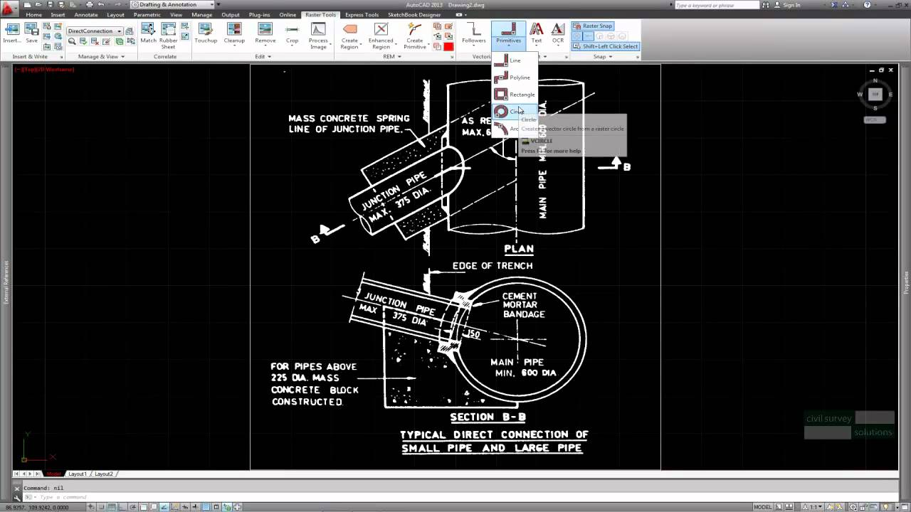 autocad raster design vector text recognition youtube. Black Bedroom Furniture Sets. Home Design Ideas