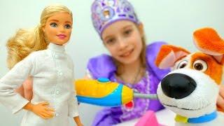 Барби и #ПринцессаСофия лечат зуб Максу! #ИгрыДляДевочек Играем в доктора Игрушки из мультика