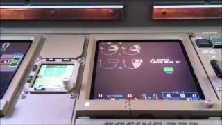 Boeing 777-300ER engine start (EICAS view)