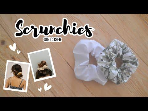 Como hacer SCRUNCHIES sin coser | Manualidades fáciles