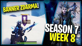 WHERE is the FOURTH FREE BANNER for the SEASON 7 (week 8)-Fortnite Battle Royale CZ/SK