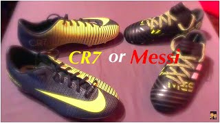 Cr7 or messi boots - shopping for soccer cleats