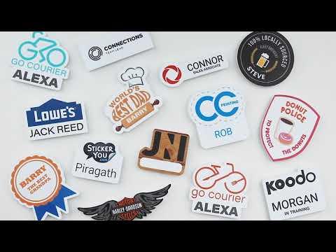 Custom Name Badges with Magnet Backs | - StickerYou