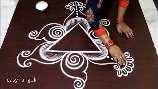simple kolam without dots * easy creative rangoli art designs * new muggulu patterns