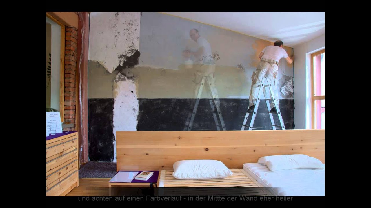 shabby chic wir rocken die wand vintage wandgestaltung mit lehm youtube. Black Bedroom Furniture Sets. Home Design Ideas