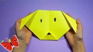Оригами. DIY. Очень легко и быстро! Как сделать собаку.