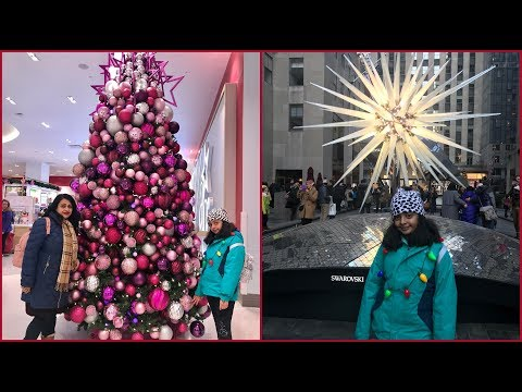 Vlog : Christmas Fun  In New York City 2018  |Tallest Christmas Tree In NYC
