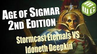 Matt and Steve Play Age of Sigmar 2nd Edition Stormcast Eternals vs Idoneth Deepkin