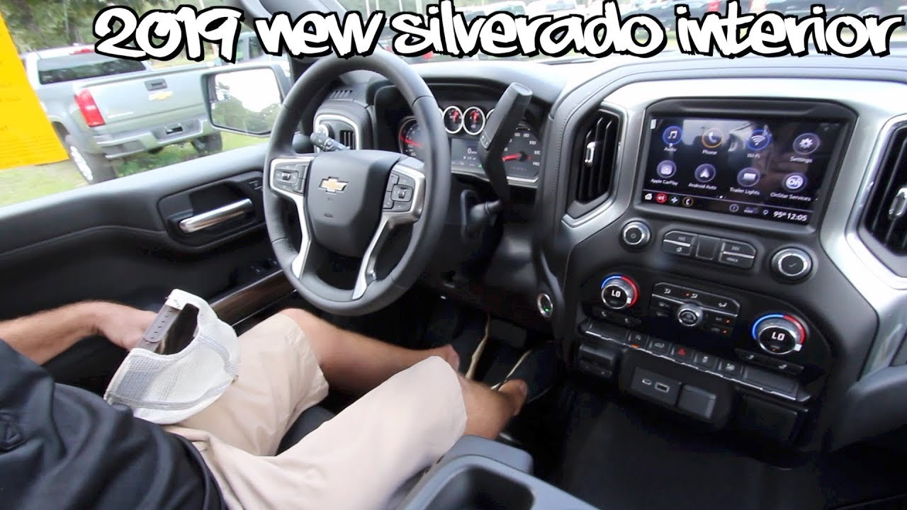 ⚫️New 2019 Chevy Silverado LT ( INTERIOR REVIEW ) Tech ...