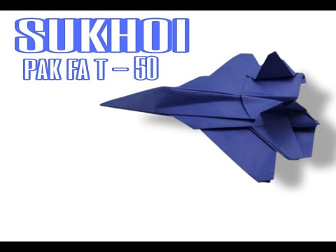 How To Make Paper Airplane - Best Paper Plane Origami Jet Fighter Is Cool | PAK FA T 50