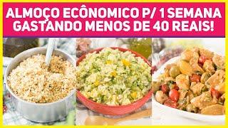 Almoço Completo que Rende 5 refeições e custa menos de 40 reais