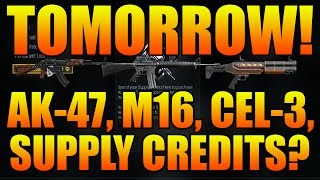 cod aw new weapons tomorrow ak 47 m16 cel 3 cauterizer supply credits cod aw dlc guns