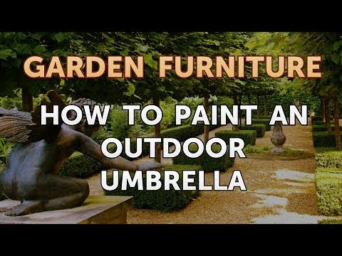 How To Paint An Outdoor Umbrella Youtube