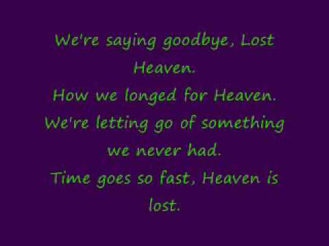 Lyrics to Lost Heaven.wmv