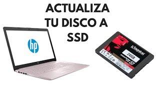 Cómo actualizar Disco Duro a Disco Sólido HP Laptop