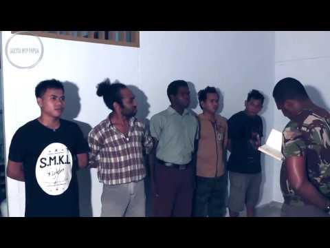"""Sketsa Mop Papua : """"TES MASUK TENTARA"""""""