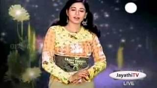 Jayathi (tv anchor) hot boob shake