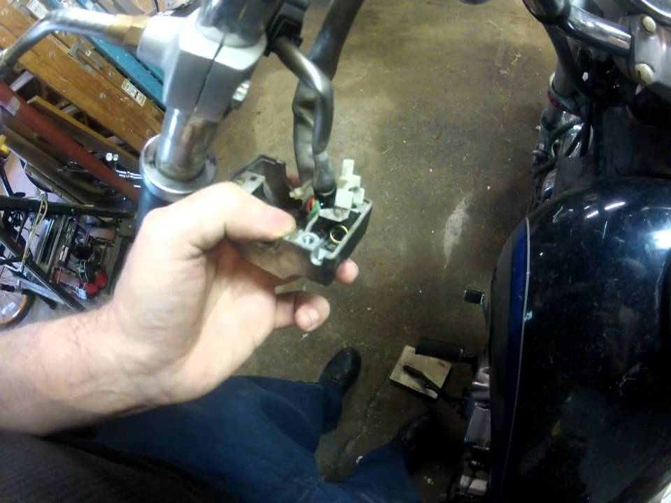 motorcycle starter switch repair  works   horn