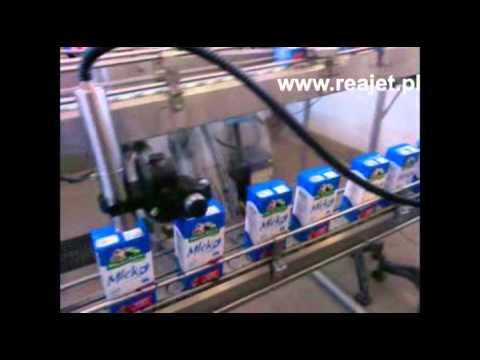 REA JET SC - drukarka małych znaków CIJ - znakowanie kartonów z mlekiem