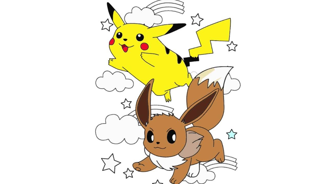 pika i pikachu pokemon go coloring pages youtube