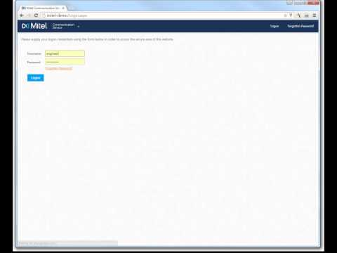 Logging into Mitel Communication Service (MCS) - YouTube